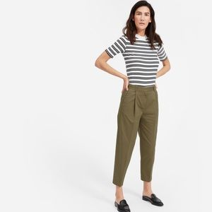 Everlane- Slouchy Chino Pant in covert green